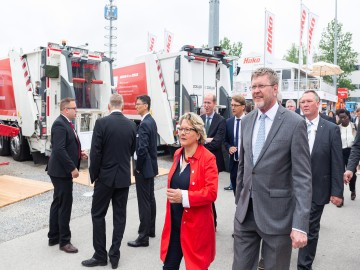 German Federal Environmental Minister Svenja Schulze and Bavarian Minister of State Dr. Marcel Huber