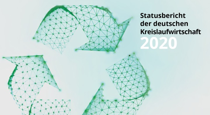 Logo for status report on the german circular economy
